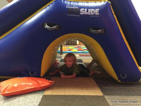 under slide